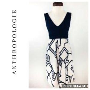 HD in Paris Geometric Print Fit & Flare Dress 12